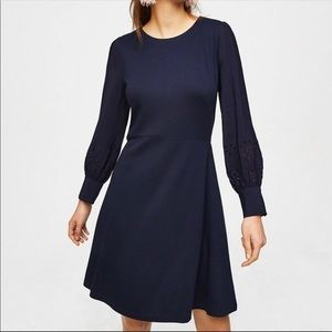NWT Ann Taylor Loft Cutout Sleeve Dress